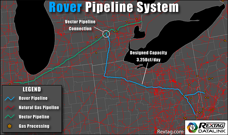 Rover Natural Gas Pipeline System Map