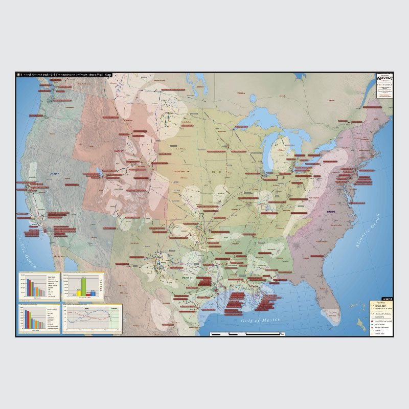 U.S. Crude Oil Infrastructure Wall Map