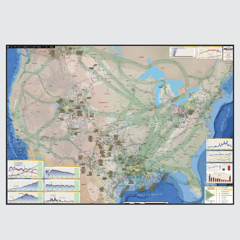 U.S. Natural Gas Infrastructure Wall Map