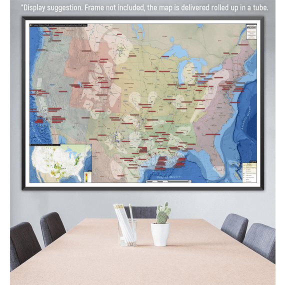 U.S. Refined Products Infrastructure Printed Map Updated October 2017 office display
